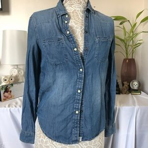 AE Boyfriend fit denim shirt